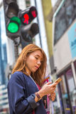 Busy asian Woman Royalty Free Stock Images