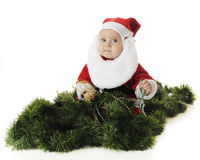 Busy Baby Santa royalty free stock photo