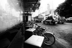 Busy Bangkok city life. Stock Photo