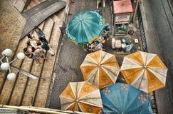 Busy Bangkok street life. Stock Photos
