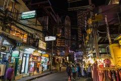 Busy Bangkok street at night Royalty Free Stock Photography