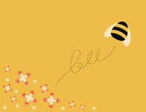 Busy bee. Flying over flowers Royalty Free Stock Image