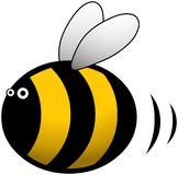 Busy Bee cartoon character illustration Royalty Free Stock Images