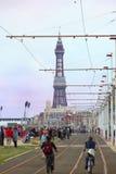 Busy Blackpool Promenade Stock Photography