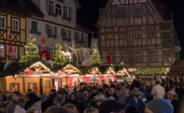 Busy Bodensee Christmas Fair in December Stock Images