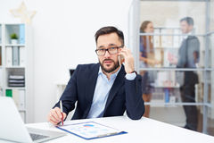 Busy boss Royalty Free Stock Image