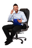 Busy boss making a call Stock Images