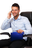 Busy boss portrait Stock Photography