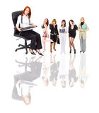 Busy boss woman and some people Stock Photography