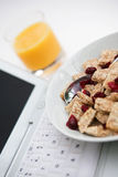 Busy breakfast! Royalty Free Stock Image