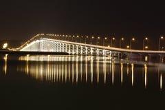 Busy bridge. A busy bridge in macau Royalty Free Stock Image