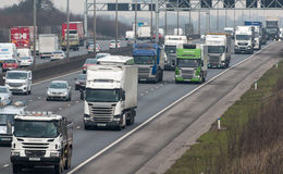 Busy British motorway M1 Stock Photography