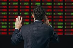 Busy broker Stock Image