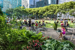 Busy Bryant Park Royalty Free Stock Image