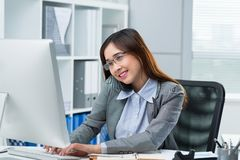 Busy business lady Stock Images