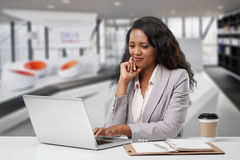 Busy business lady Royalty Free Stock Images