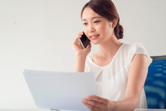 Busy business lady Stock Photos
