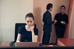Busy business lady Stock Photography