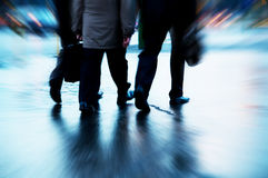 Busy business people walking Stock Photo