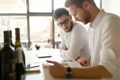 Busy business people working on break Royalty Free Stock Image