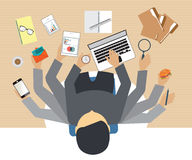 Busy business people working hard . Busy business people working hard on his desk in office with a lot of paper work, Business conceptual on hard working Stock Image