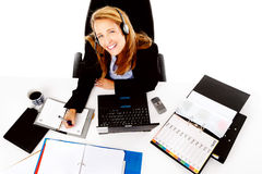 Busy business woman Stock Photography