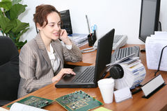 Busy Business Woman Royalty Free Stock Images