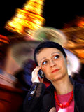 Busy business woman in the city Stock Photo