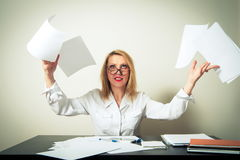 Busy business woman Royalty Free Stock Photos