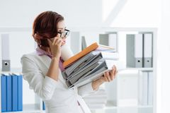 Busy business woman Stock Photos