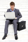 Busy businessman Stock Images