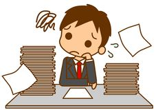 Busy businessman. This is an illustration of a busy businessman Stock Photo
