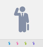 Busy Businessman - Granite Icons Royalty Free Stock Photos