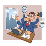 Busy businessman at office Stock Photography