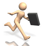 Busy businessman is running. Royalty Free Stock Images