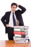 Busy businessman under work stress Stock Photo