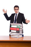 The busy businessman under work stress Stock Photography