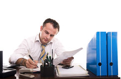 Busy businessman working Royalty Free Stock Image