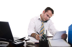 Busy businessman working Stock Photography