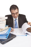 Busy Businessman working royalty free stock photography