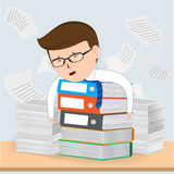 Busy Businessman Working Stock Images