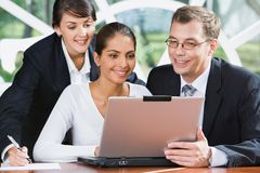 Busy businesspeople Stock Image