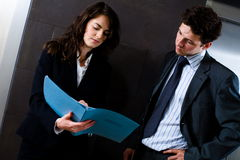 Busy businesspeople Royalty Free Stock Image