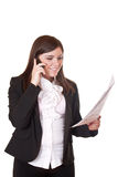 Busy businesswoman Royalty Free Stock Photos