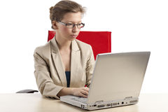 Busy businesswoman Stock Photography