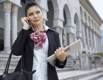 Busy BusinessWoman Stock Photo
