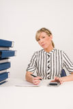 Busy businesswoman in office Royalty Free Stock Photography