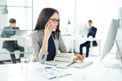 Busy businesswoman Stock Photos