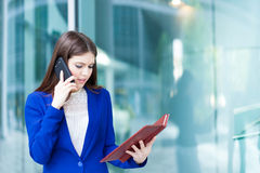 Busy businesswoman at work Stock Photos
