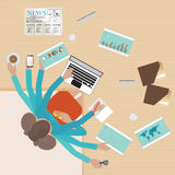 Busy businesswoman working hard on his desk. Royalty Free Stock Image